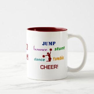 Jump Stunt Bounce Cheerleader Coffee Mug