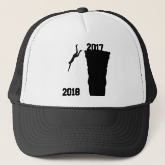 Jump to new year trucker hat