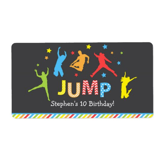 Jump water bottle labels / Trampoline bottle label