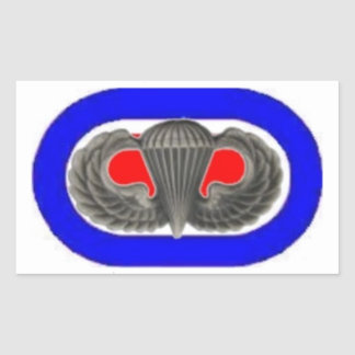 JUMP WINGS ON 187TH INFANTRY OVAL STICKERS