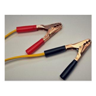 Jumper cables postcard