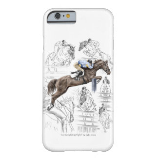 Jumper Horses Fences Montage Barely There iPhone 6 Case