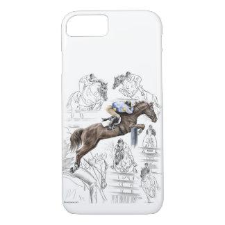 Jumper Horses Fences Montage iPhone 7 Case