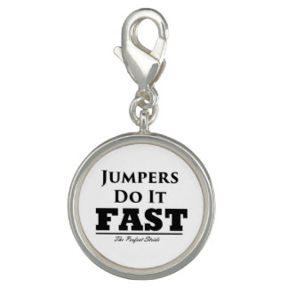 Jumpers Do It Fast Charm