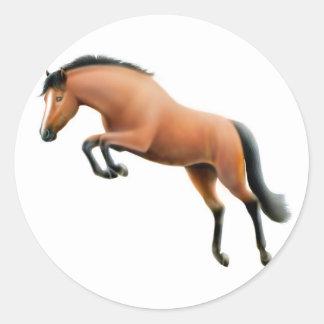 Jumping Bay Horse Sticker