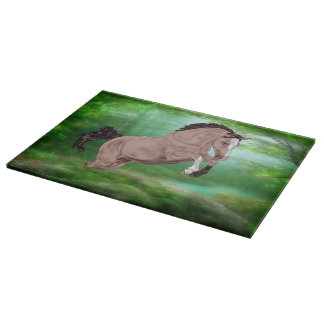 Jumping Buckskin Horse Cutting Board