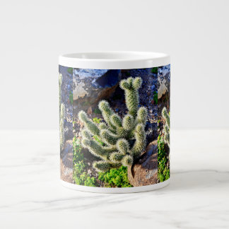 Jumping Cactus in Rock Coffee Cup