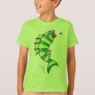 Jumping Cartoon Fish T-shirt