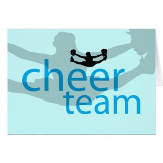 Jumping Cheerleader Team Gear Card