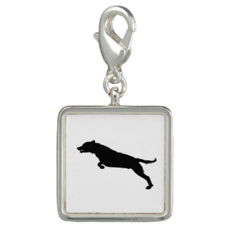 Jumping Dog Silhouette Charm