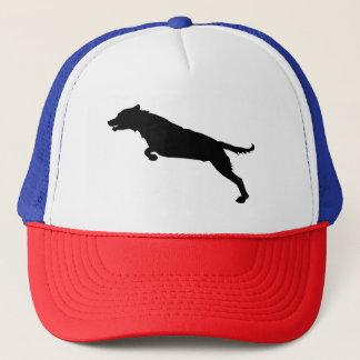 Jumping Dog Silhouette Trucker Hat