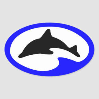 Jumping Dolphin Vintage Divers Sticker