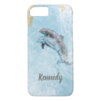 Jumping Dolphins Coastal Theme Art Case-Mate iPhone Case
