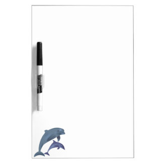 Jumping dolphins illustration dry erase board