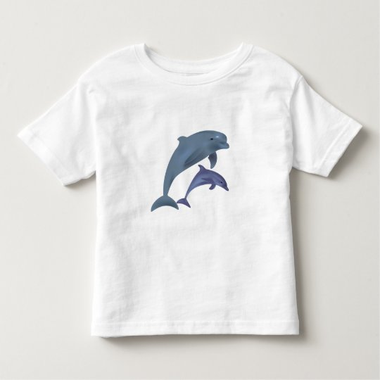 Jumping dolphins illustration toddler shirt
