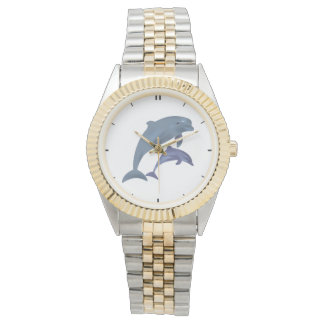 Jumping dolphins illustration watches