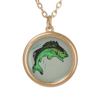 Jumping Fish Gold Plated Necklace