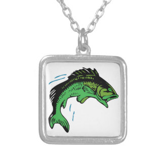 Jumping Fish Silver Plated Necklace