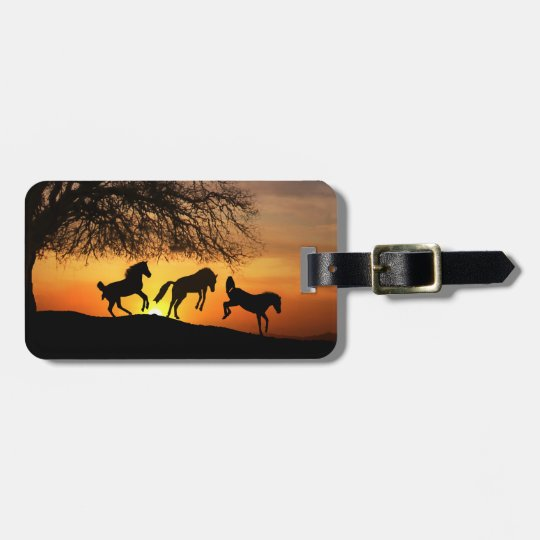 Jumping for Joy Horse Luggage Tag