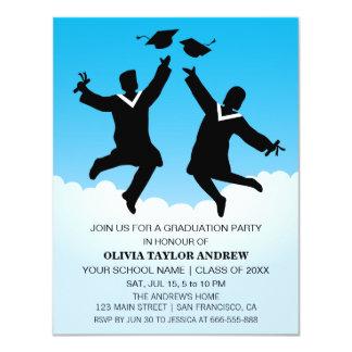 Jumping Graduates Graduation Party Invitation