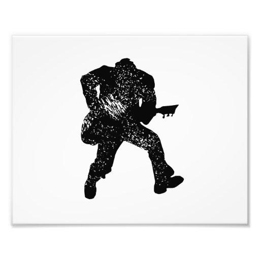 jumping guitar player motheaten look photograph