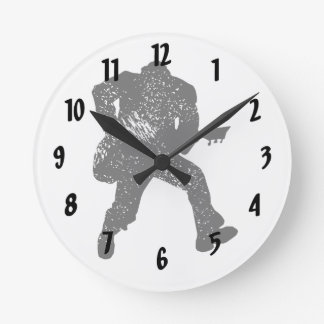 jumping guitar player motheaten look round clock