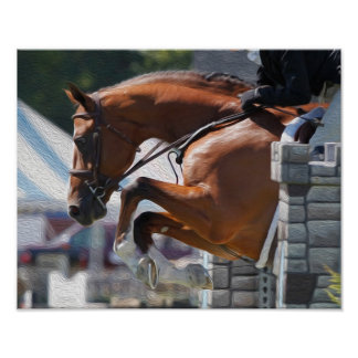 Jumping Horse-Equestrian Poster