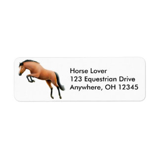Jumping Horse Label Return Address Label
