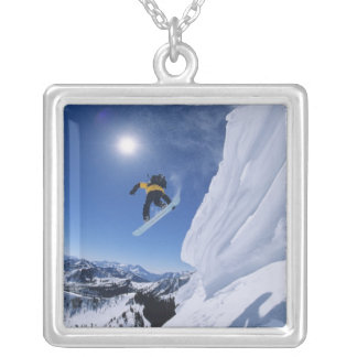 Jumping into Snake Creek Canyon from Clayton 2 Silver Plated Necklace