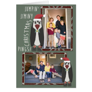 Jumping Jiminy Christmas Photos - Personalized Card