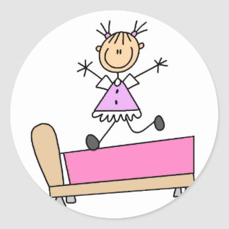 Jumping On Bed Stickers Sticker