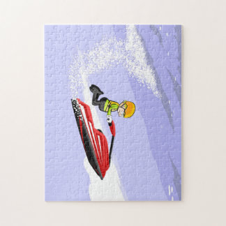 Jumping on the waves in a Jet Ski Jigsaw Puzzle
