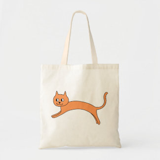 Jumping Orange Cat. Tote Bag