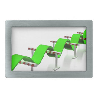 Jumping over any obstacles rectangular belt buckle