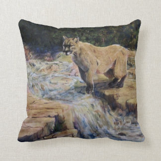 Jumping Over the River Throw Pillow