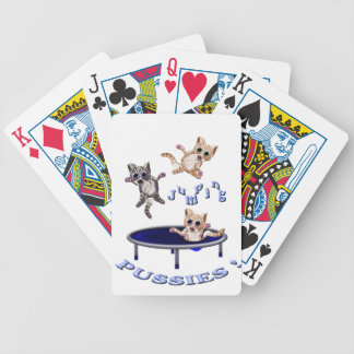 jumping pussies bicycle playing cards