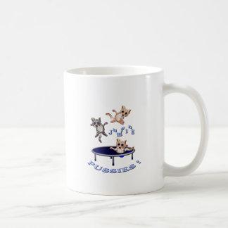 jumping pussies coffee mug