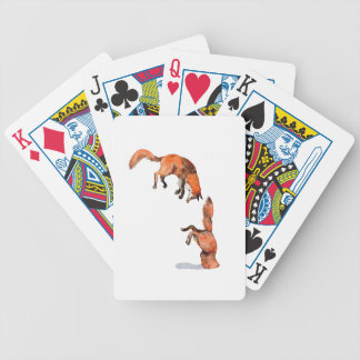 Jumping Red Fox Bicycle Playing Cards