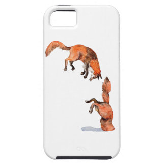 Jumping Red Fox iPhone 5 Cases