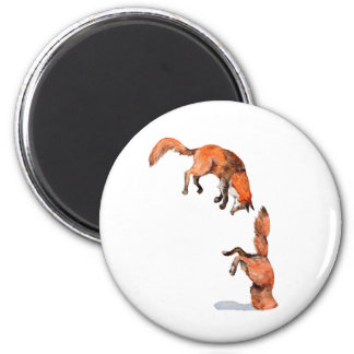 Jumping Red Fox Magnet