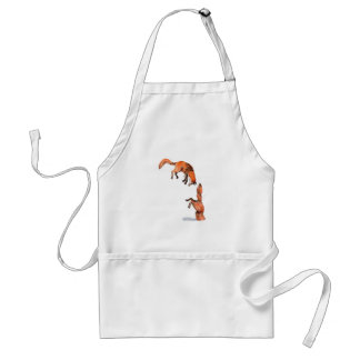 Jumping Red Fox Standard Apron