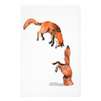 Jumping Red Fox Stationery