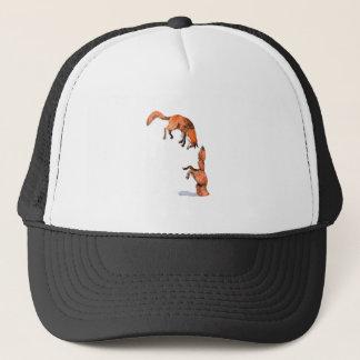 Jumping Red Fox Trucker Hat
