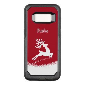 Jumping Reindeer custom name phone cases