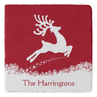 Jumping Reindeer custom name trivets