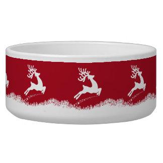 Jumping Reindeer pet bowls