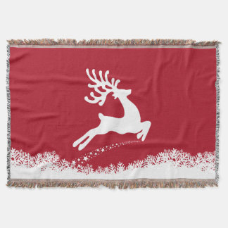 Jumping Reindeer throw blanket