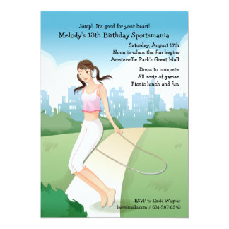 Jumping Rope Invitation