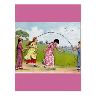 Jumping Rope Postcard