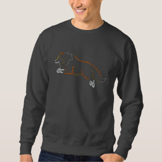 Jumping Sable Sheltie Embroidered Sweatshirt